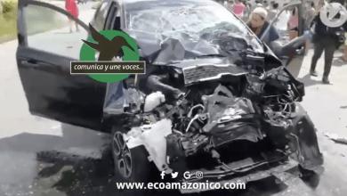 Fuerte accidente de Tránsito en Puyo