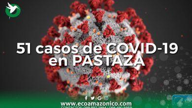 51 casos de coronavirus en Pastaza