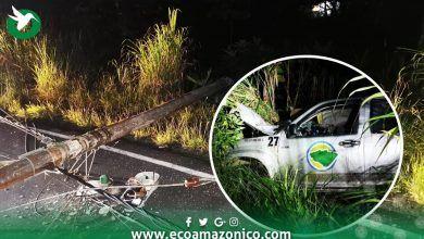 Prefecto informa sobre accidente de un vehículo de su institución