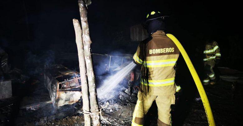 Incendio en una vivienda del Té Zulay