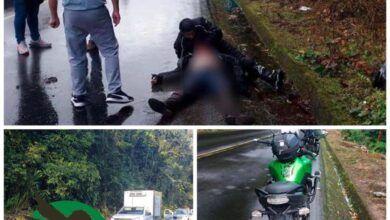 Persona fallecida en accidente en el Km 60 Vía Baños - Puyo