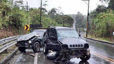 Accidente de tránsito en la vía Macas deja daños materiales