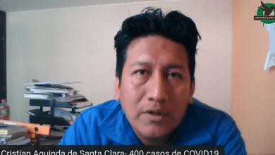 Aguinda dice que en Santa Clara hay más de 400 casos de COVID19