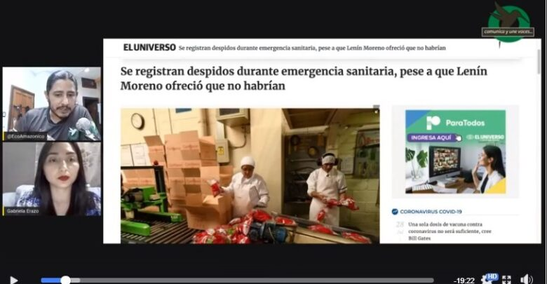 «A lo legal» Despidos durante emergencia sanitaria