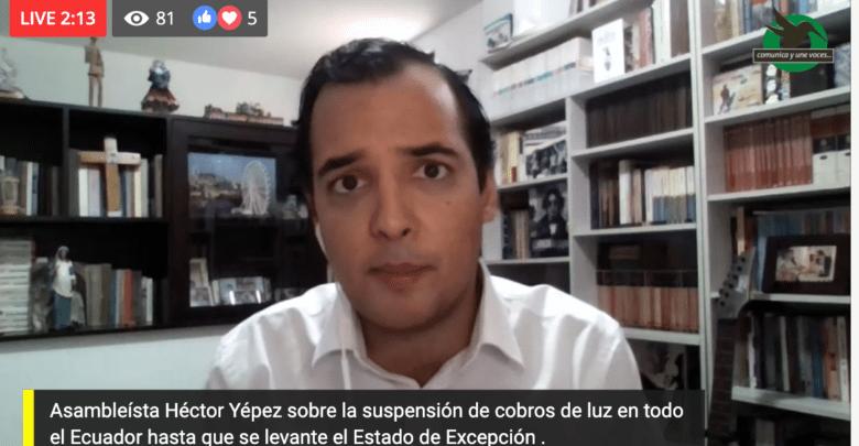 Sobre la suspensión el cobro de planillas de luz en todo el Ecuador