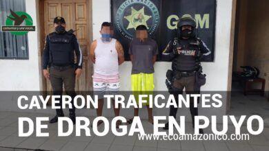 Se capturan a dos traficares de drogas en Puyo