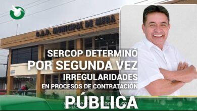 El SERCOP indica irregularidades en Contratación Pública del GAD de Mera