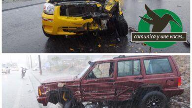 Fuerte accidente de tránsito en el Paso Lateral de Puyo