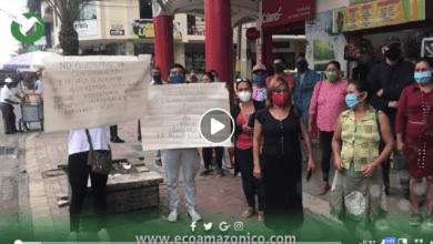 Amurisap realiza un Plantón por la descontaminación de río en Salome