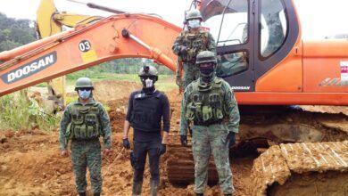 Operativos en contra de la minería ilegal en Napo y Morona Santiago