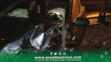 Fuerte accidente de dos vehículos en las Américas