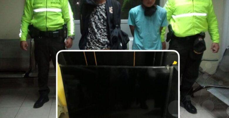 Policía logra la recuperación de una tv que fue robada de la U.E Pompeya