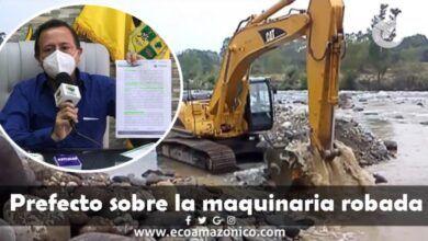 Prefecto habla del robo de la maquinaria en Veracruz