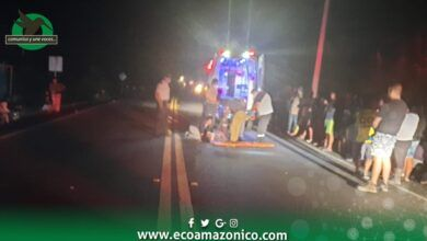 Accidente de tránsito en la vía a Macas kilometro 58