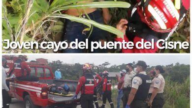 Una joven cayó del puente del Cisne en Puyo