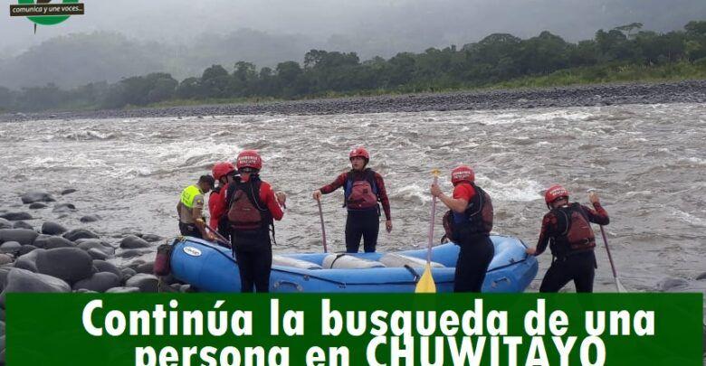 Continúa la búsqueda de Adriano Karmur Jancur en el río Pastaza