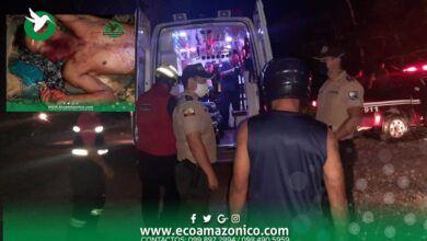 Bomberos de Arajuno atendieron a una persona con un disparo en su rostro