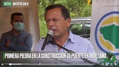 PRIMERA PIEDRA EN LA CONSTRUCCIÓN DEL PUENTE EN INDILLAMA