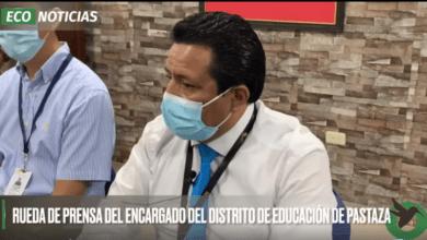 RUEDA DE PRENSA DEL ENCARGADO DEL DISTRIT DE EDUCACIÓN DE PASTAZA