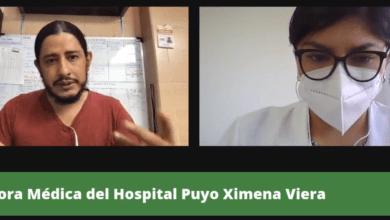 Detalle del COVID19 en el Hospital Puyo