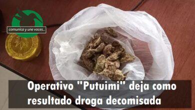 Incautación de droga en Putuimi
