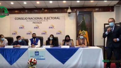 Desde el CNE delegación Pastaza
