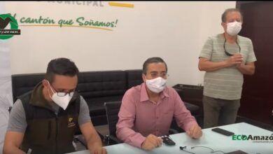 Firma de comodato entra el Municipio y el Cuerpo de Bomberos de Pastaza