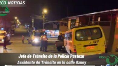 Accidente de tránsito en la calle Azuay