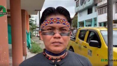 El presidente de la Nacionalidad Andoas informa