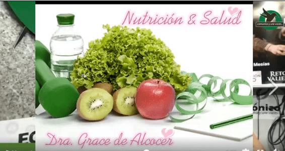 La Dra Grace Alcocer nos indica sobre los Nutrientes