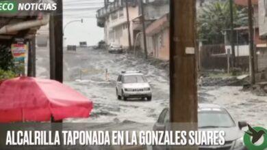 ALCANTARILLA TAPONADA EN LA GONZALES SUARES
