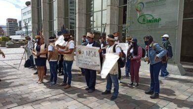 Saparos reclaman en Quito afectación a sus territorios