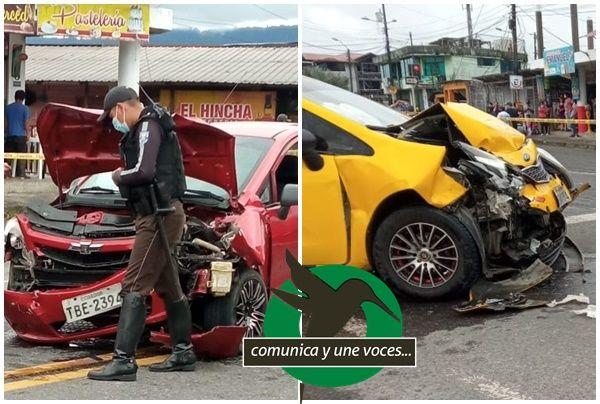 Fuerte accidente en los semáforos de la Merced
