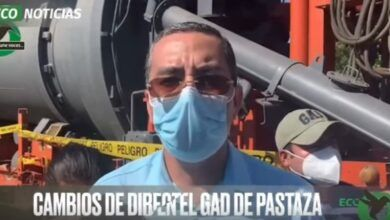 Alcalde de cantón Pastaza en un recorrido de obras
