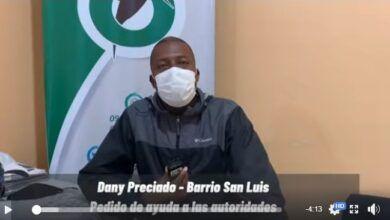 Presidente de barrio San Luis pide ayuda a las autoridades