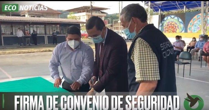 FIRMA DE CONVEVIO DE SEGURIDAD