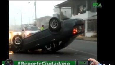 ACCIDENTE DE TRÁNSITO EN LA PALAZA ARAY