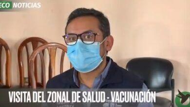 VISITA DEL ZONAL DE SALUD-VACUNACIÓN
