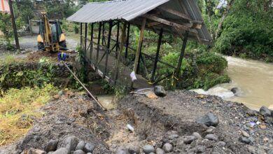 Barrio Miraflores fue afectado por las lluvias