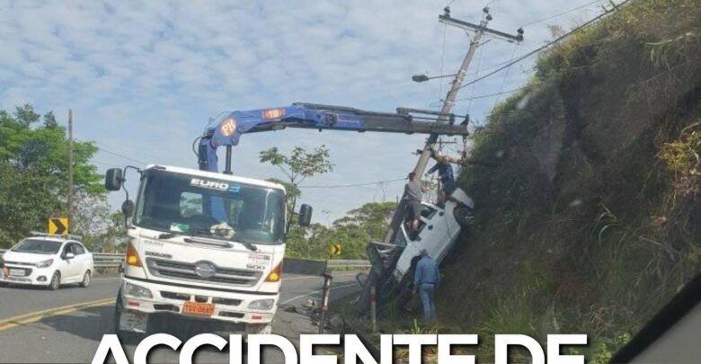 ACCIDENTE DE TRÁNSITO EN EL KILÓMETRO 12 VÍA A MACAS