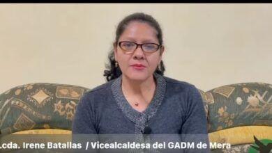 Vicealcaldesa del GADM de Mera rinde cuentas a las y los ciudadanos