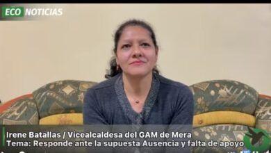 Vicealcaldesa de Mera aclara sobre la ausencia y la falta de apoyo