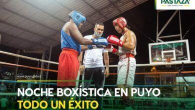 Noche de boxeo en Puyo