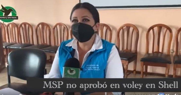 MSP no aprobó el voley en Shell