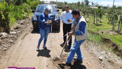 Mantenimiento vial rural en Palora