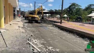 Concejal indica algunas observaciones a los trabajos que están realizando en la calle Pastaza