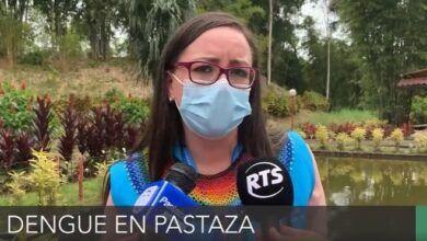 Andrea González Romero, informa sobre el tema del dengue en Pastaza