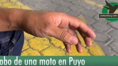 Robo de una moto en Puyo